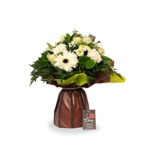 Bouquet Athènes blanc - M