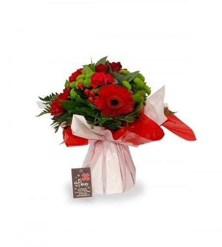 Bouquet Rome rouge - S