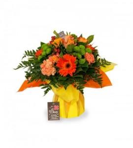 Bouquet Bruxelles orange - M