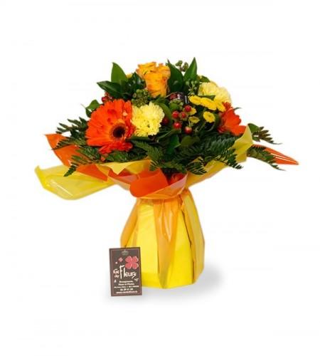 Bouquet Bruxelles orange - S