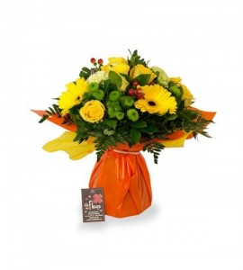 Bouquet Madrid jaune - M