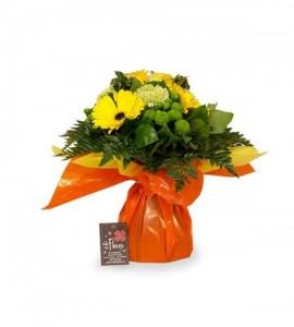 Bouquet Madrid jaune - S