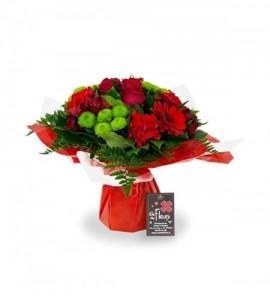 Bouquet Rome rouge - XS