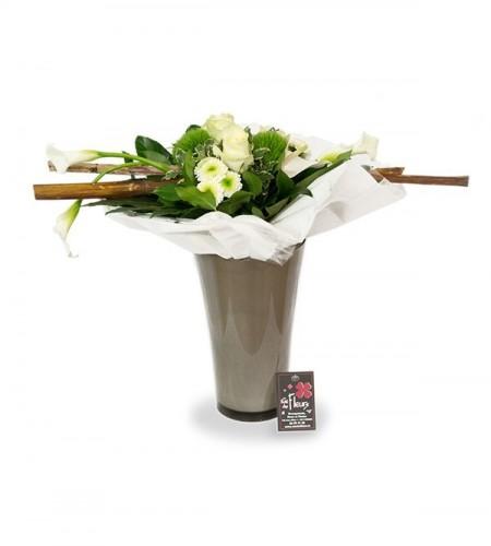 Bouquet structure blanc