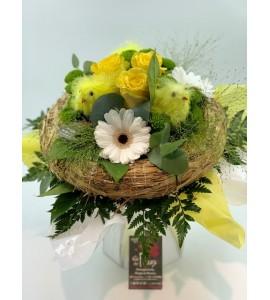Bouquet Pâques nid